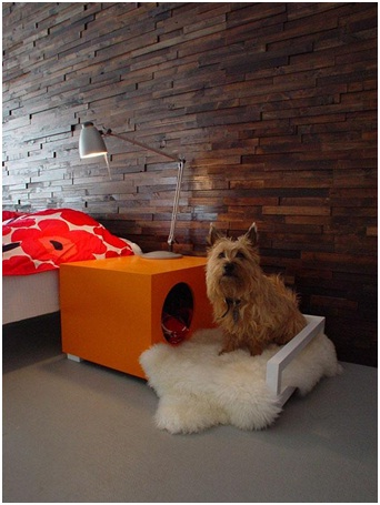 Bedside Table Dog House-Pet Friendly Furniture Ideas