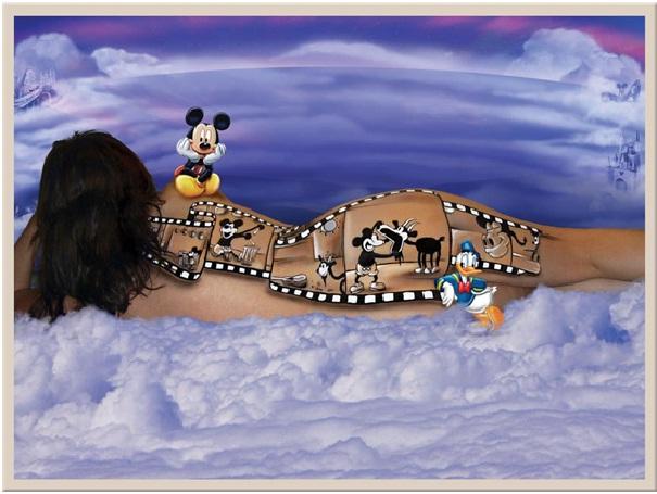 Mickey Film strip-Disney Full Body Painting