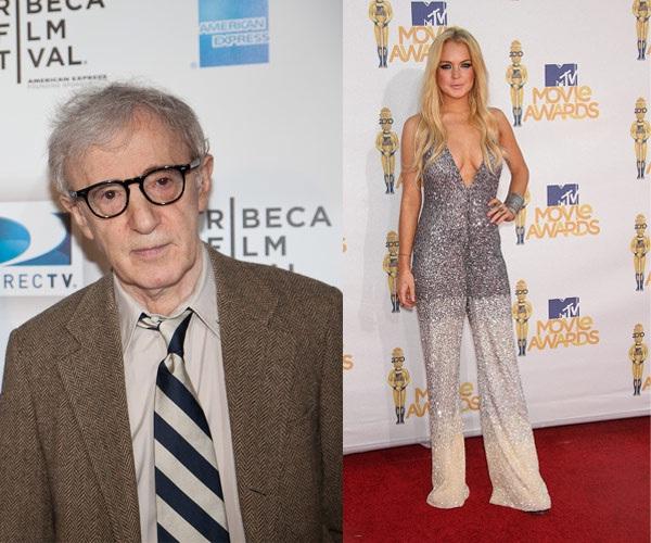 Woody Allen & Lindsay Lohan-Unlikely Celebrity Friends