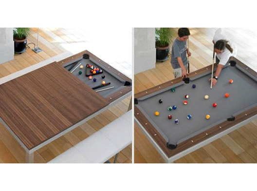 Kitchen Table/Pool Table-Awesome Home Interior Designs Ever