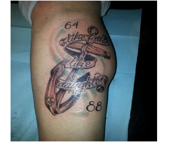 Like father like daughter 12 best father and daughter for Father and daughter tattoos