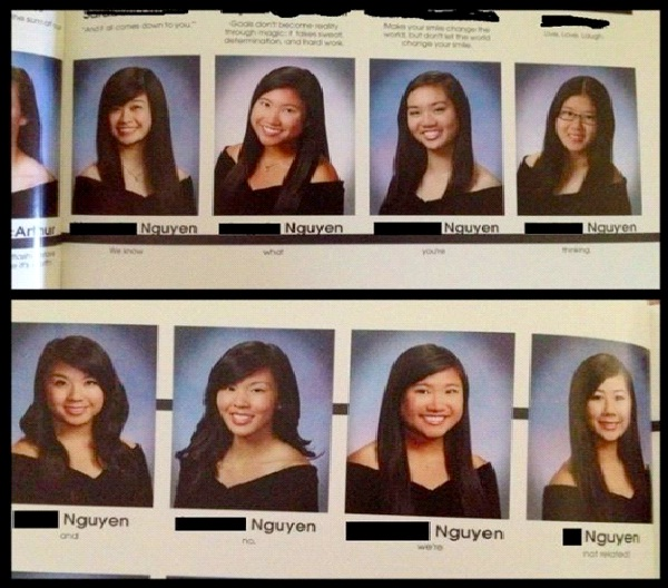 Nguyen-Worst Names For The School Yearbook