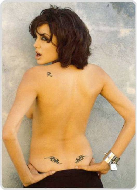 death Tattoo-Angelina Jolie And Her Tattoos