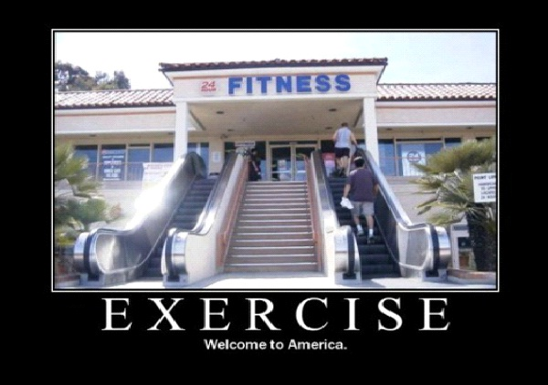Escalator To Fitness-Most Ironic Pictures