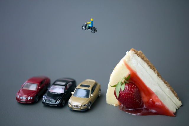 Stunt jump-Adventures Of Tiny People In The World Of Food