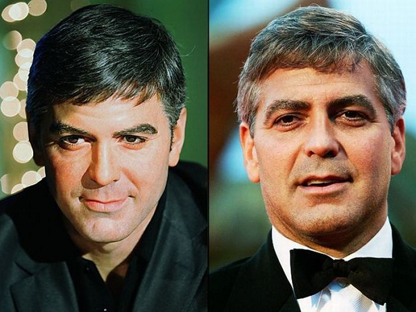 George Clooney-Celebs With Their Wax Statues