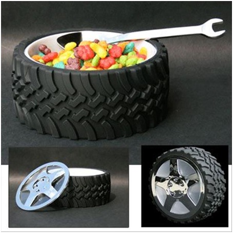 Tire Bowl & Wrench Spoon-Must Have Man Cave Accessories