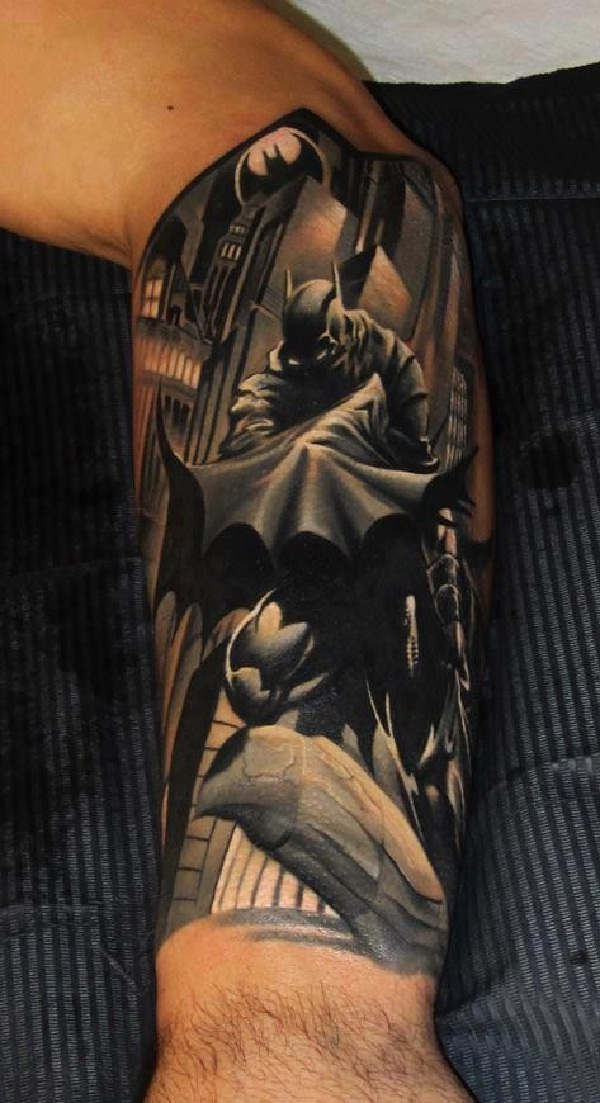 Arm-Batman 3D Tattoos