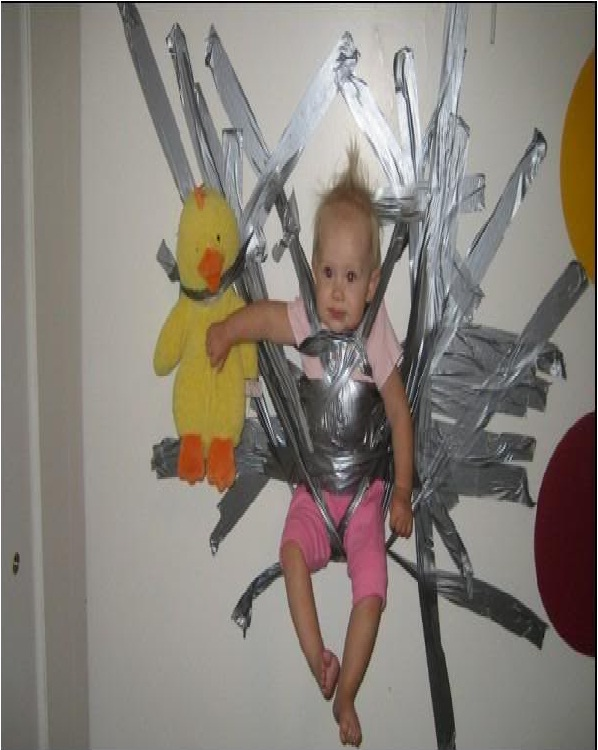 Duct Tape Baby-Worst Parenting Fails