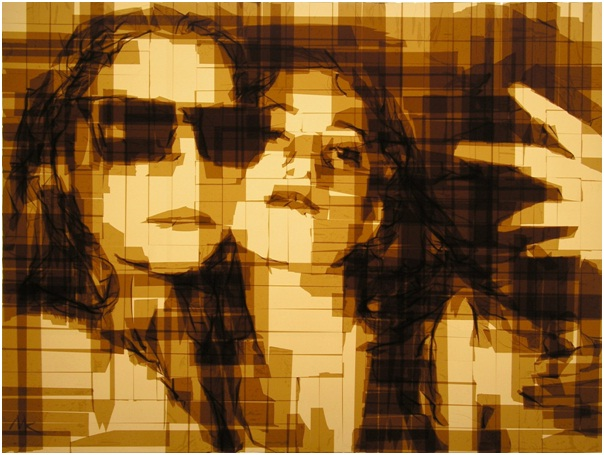 Selfies with Packing Tape-Amazing Packing Tape Art