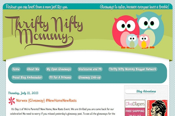 Thrifty Nifty Mommy-Best Mother's Blogs