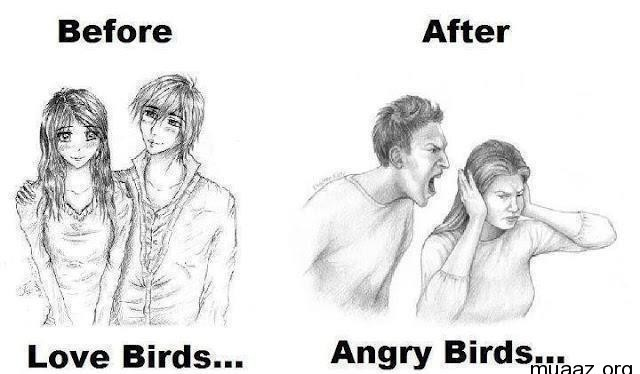 You thought you loved angry birds?-12 Hilarious Before And After Marriage Pictures
