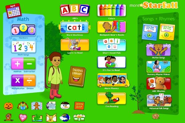 starfall.com-Best Educational Websites For Kids