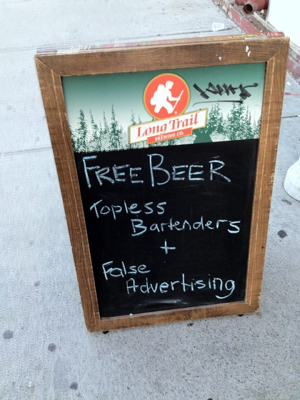 Teasing without an offer-Hilarious Examples Of False Advertising
