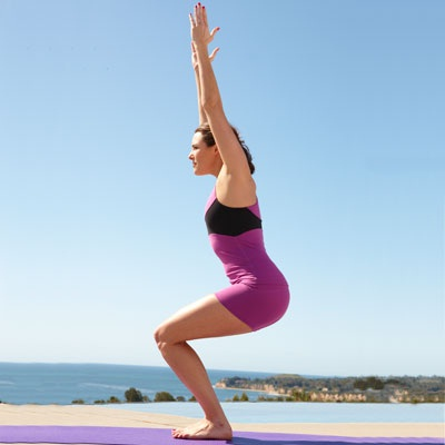 Chair pose-Simple Yoga Poses To Lose Weight
