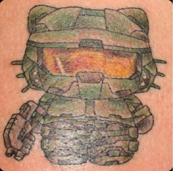 Army Kitty-Craziest Hello Kitty Tattoos