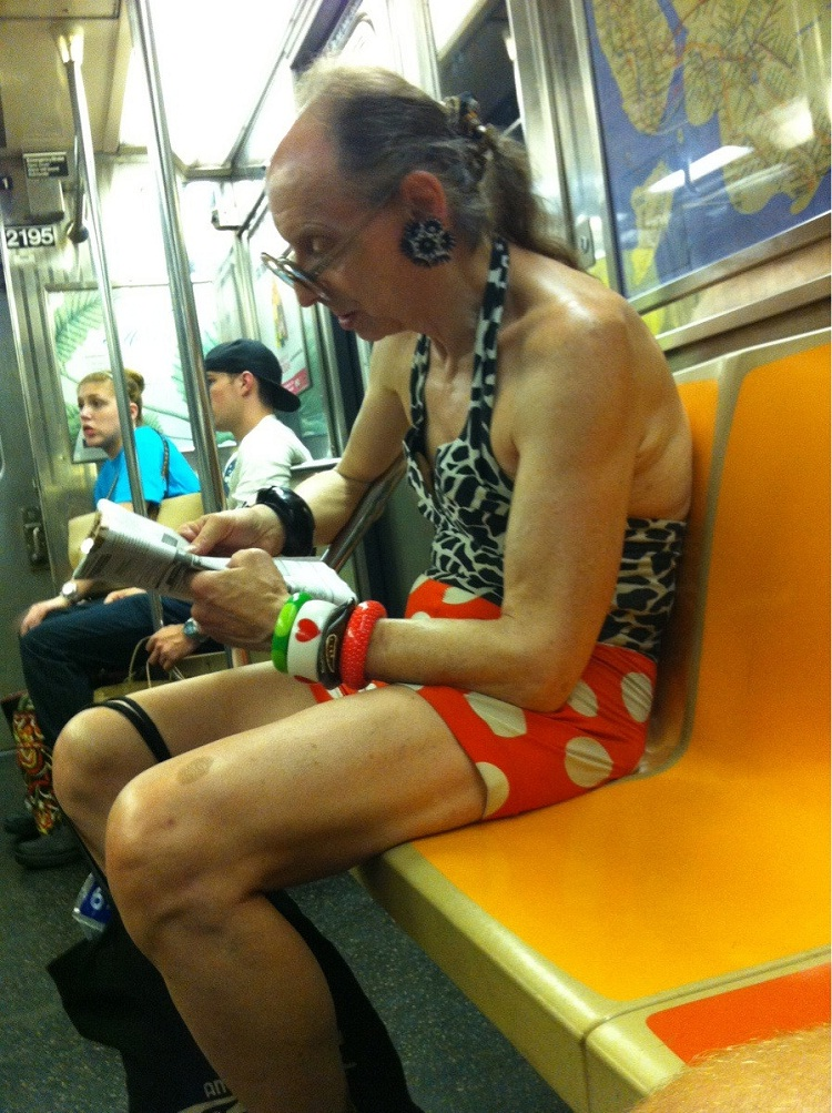 Dressed for the occasion-WTF Subway Fails