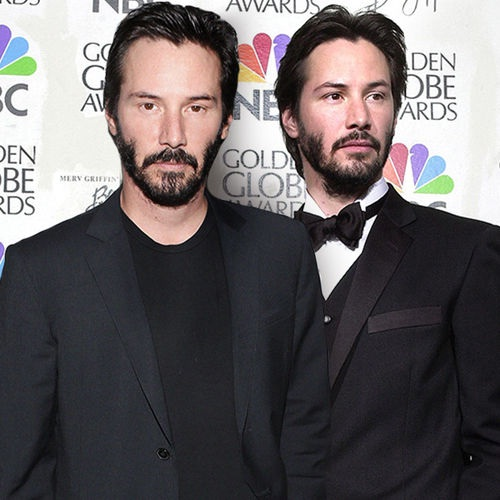 Has Keanu changed?-15 Celebrities Posing With Younger Versions Of Themselves