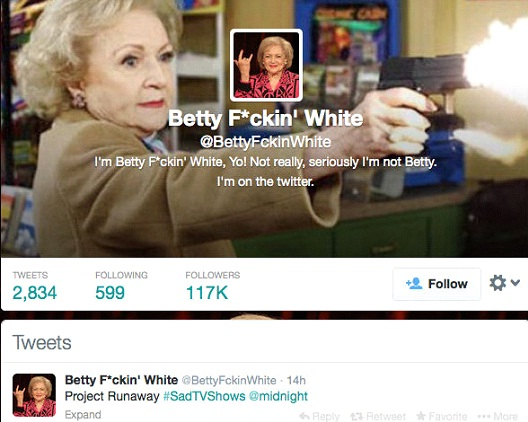 Betty F*ckin' White @BettyFckinWhite-12 Funny Twitter Accounts To Follow