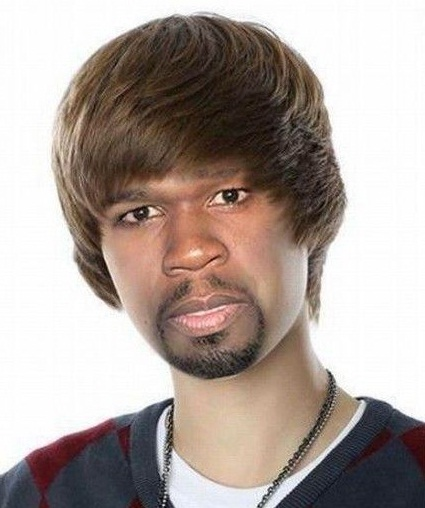Justin Bieber & 50 Cent-Most Ridiculous Face Mashes Ever