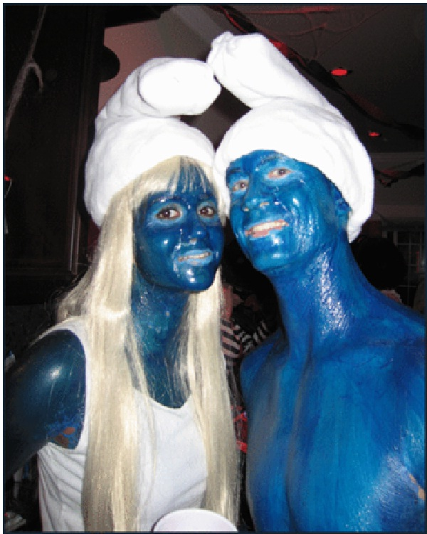 The Smurfs-Best Halloween Body Paintings