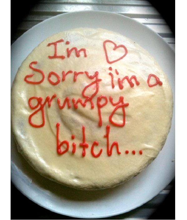 Grumpy Bitch-12 Hilarious Cake Texts That Will Make You Laugh For Sure