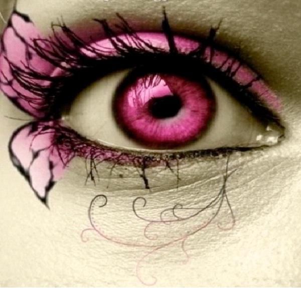 Pink Eye-Crazy Eye Make Up