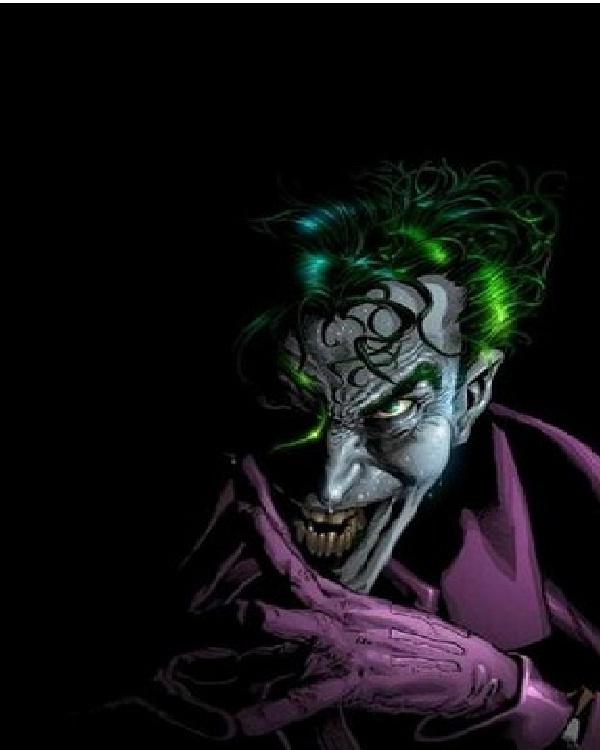Dark and purple-15 Best Joker Drawings That Give You Nightmares