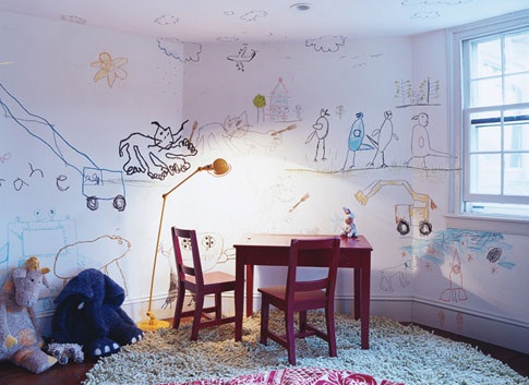 The walls are as you like them-Not Being A Parent Can Be Quite Good