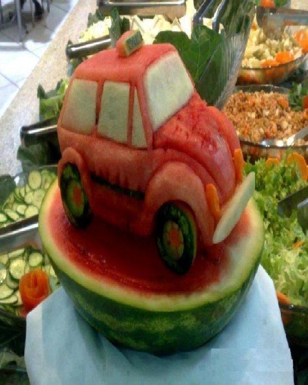 Car Watermelon-Amazing Watermelon Art