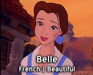 Belle-15 Disney Princesses Names And Their Meanings In Different Languages