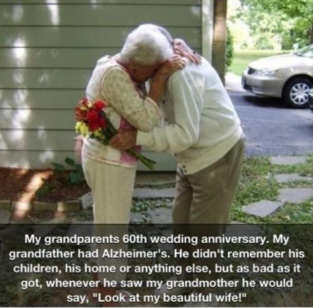 A Grandpa Who Forgot Everything Except His Wife-15 Amazing Old Couples That Show Love Never Gets Old