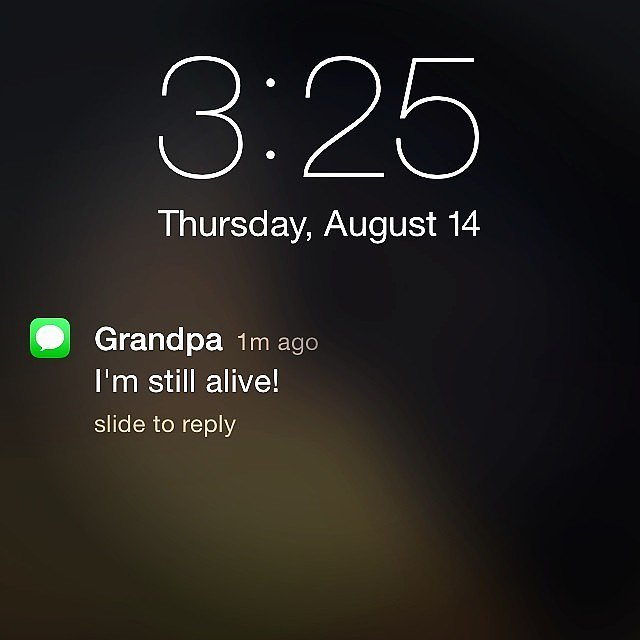 This Grandpa with Good Sense of Humor-15 Hilarious Texts From Grandparents