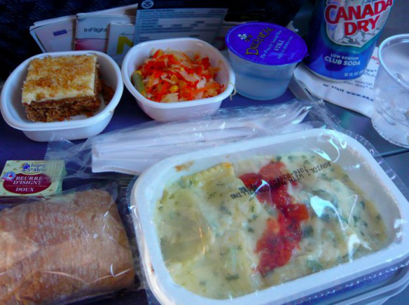 American Airlines-15 Airlines And The Food Served In The Economy Vs. Business Class