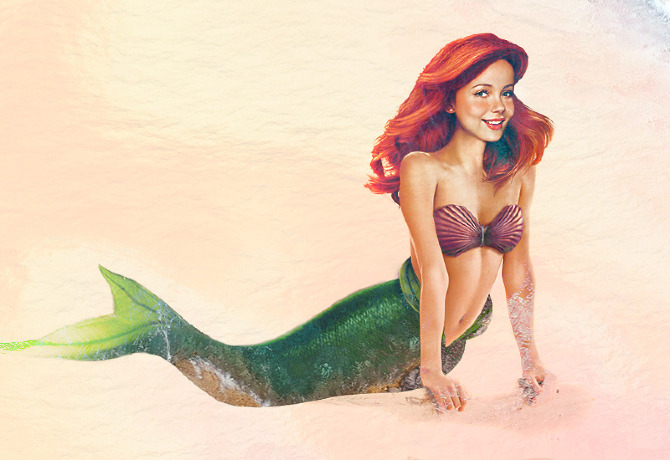 Ariel-15 Real Life Illustrations Of Disney Characters