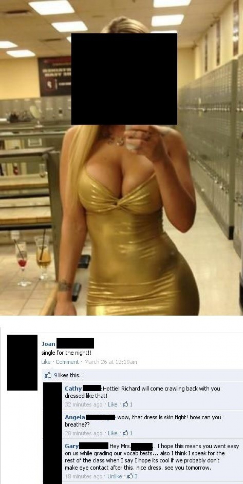 Nice Dress There, But...-15 Teachers And Their Epic Facebook Fails