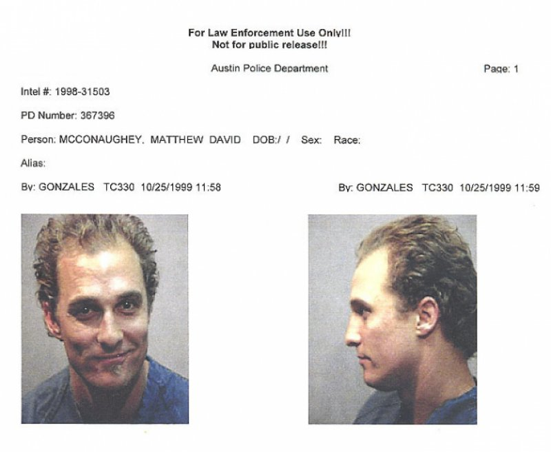 Matthew McConaughey Got Arrested For Playing Bongo Drums-15 Trashy Things Celebs Have Done Drunk