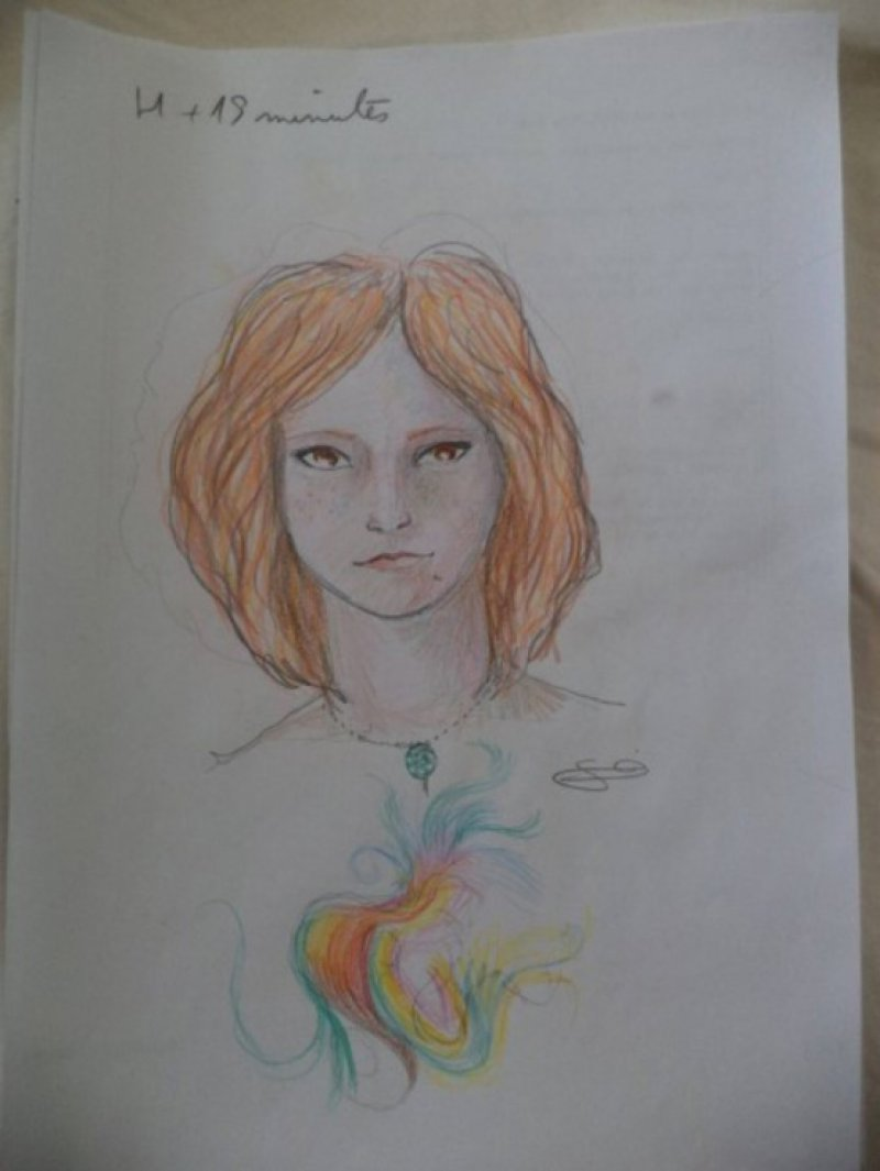 Before any Effect-A Woman Draws Her Self Portraits During Her First Acid Trip