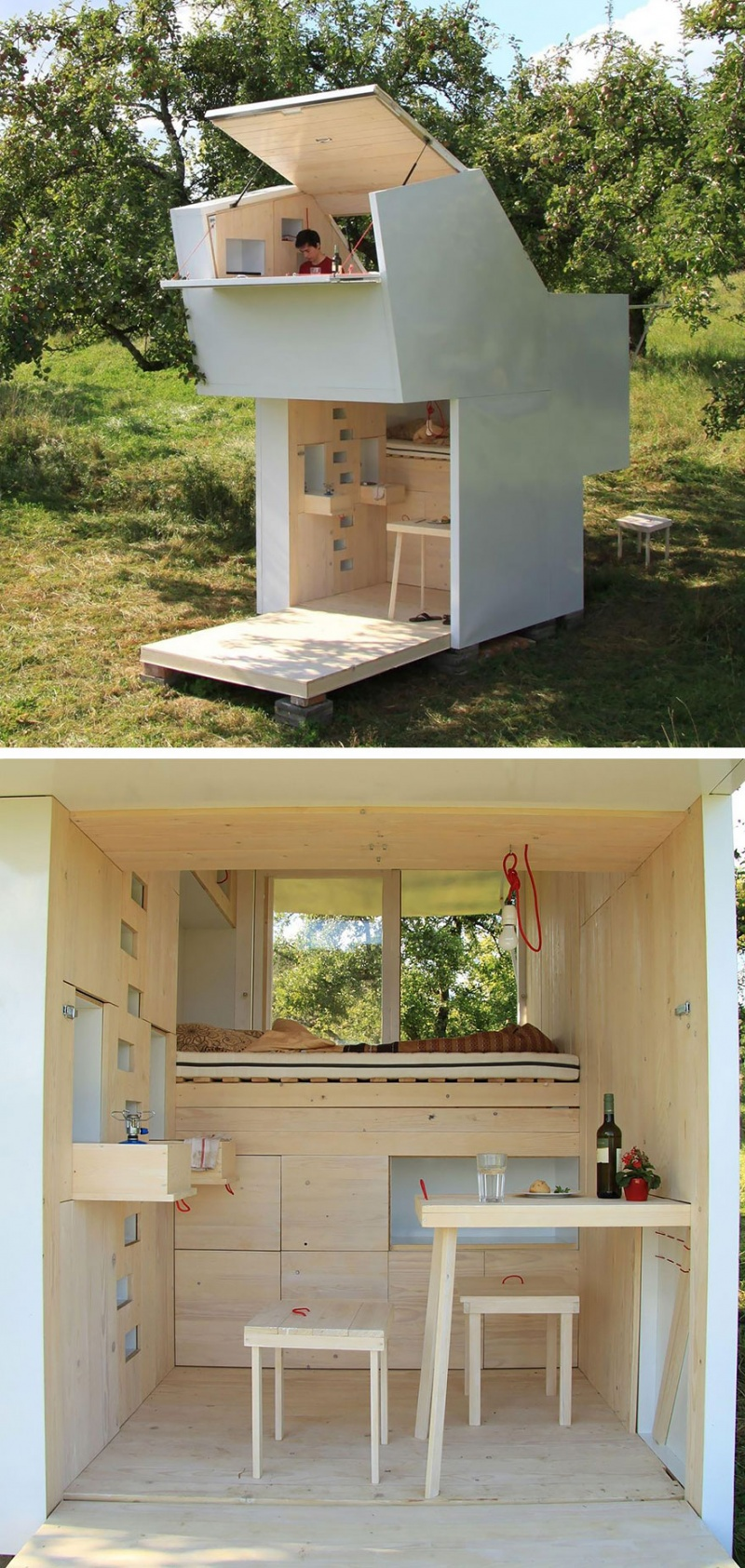 A Small Wooden Shelter-15 Tiniest Houses Which Are Small From The Outside But Big On The Inside