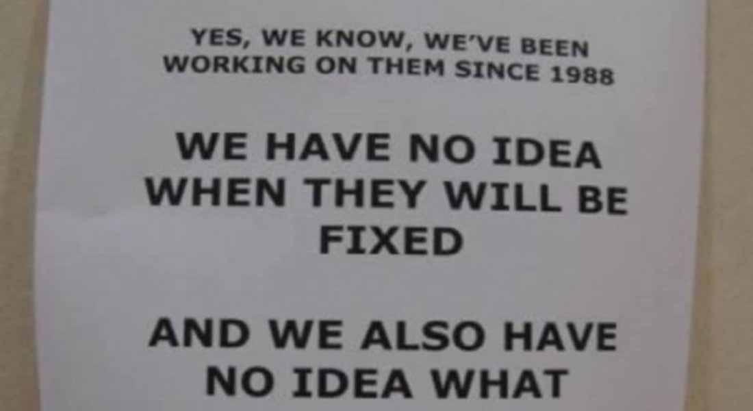 12 Funniest Out of Order Signs Ever