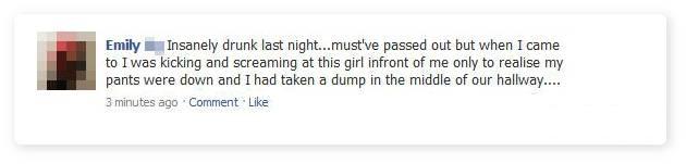 This is Disgusting-15 Hilarious Facebook Drunk Posts