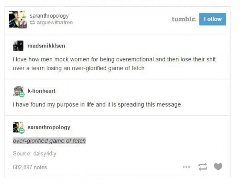 Over Glorified Game of Fetch-15 Times Feminists Gave A Fitting Reply