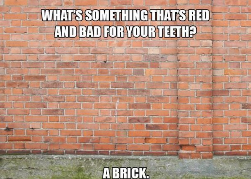 Something That's Red and Bad For Your Teeth?-15 Terrible Jokes That Are Actually Funny