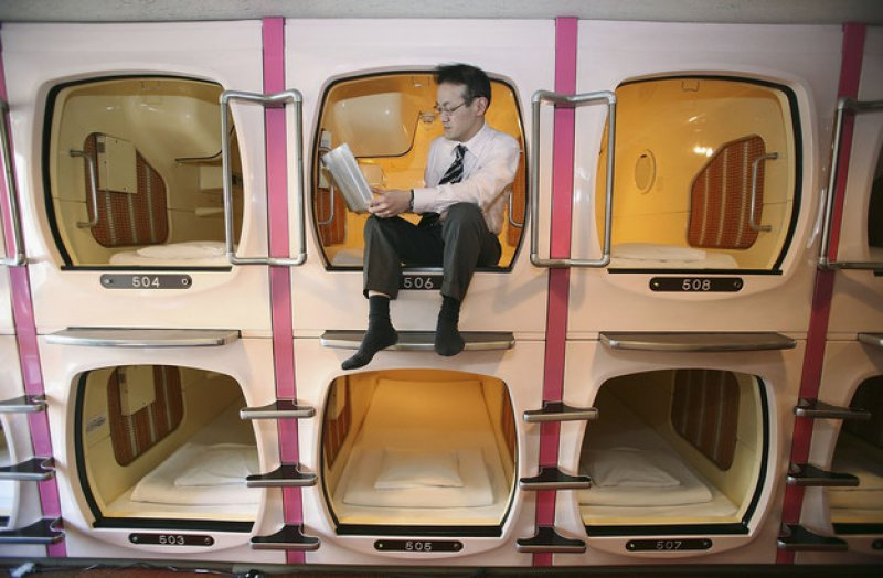 Japanese Capsule Hotels-15 Weird Things That Can Happen Only In Japan