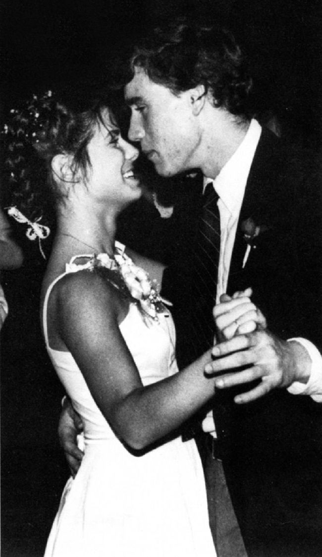 Sandra Bullock Prom Date Photo-15 Rare Unseen Celebrity Prom Photos