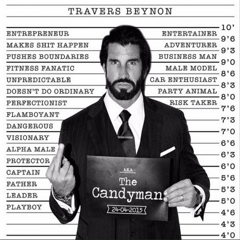 Here is He, Travers Beynon-15 Things You Don't Know About Travers Beynon AKA CandyMan