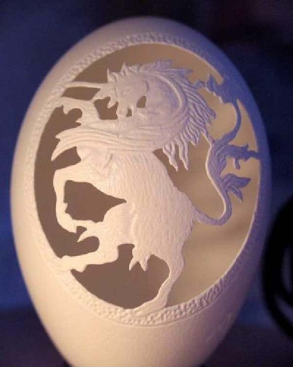 Unicorn-15 Eggshell Carvings That Are Beautiful