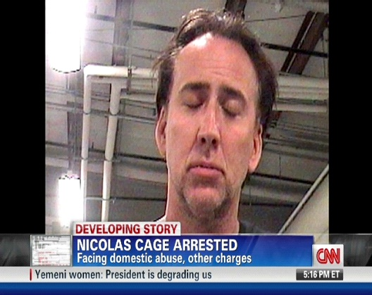 Nicolas Cage-Top Celebrity Mug Shots