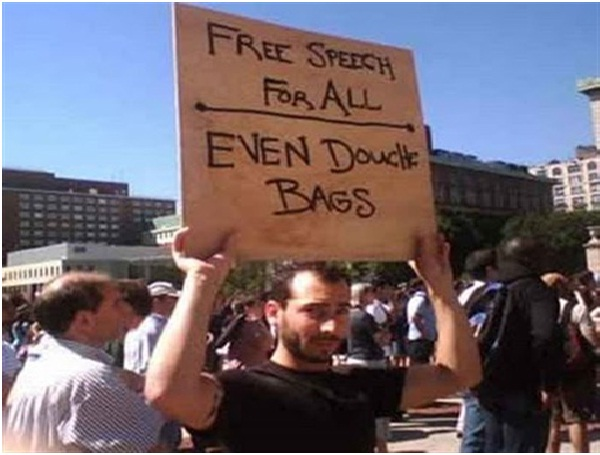 Free Speech For All-Clever Protest Signs