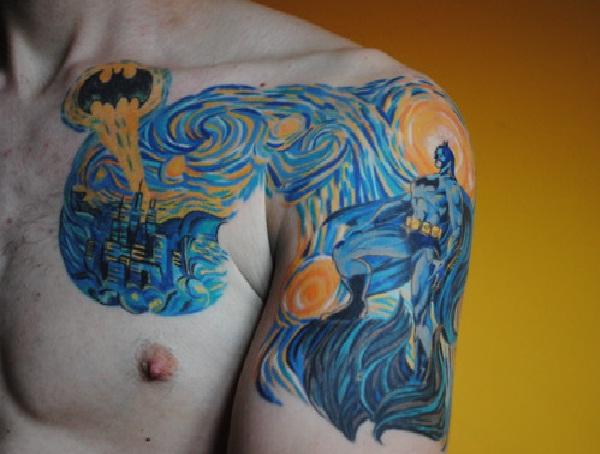 Abstract-Batman 3D Tattoos